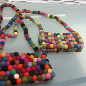 Handbags - Funky Colored PomPom Bags- Brights or Soft